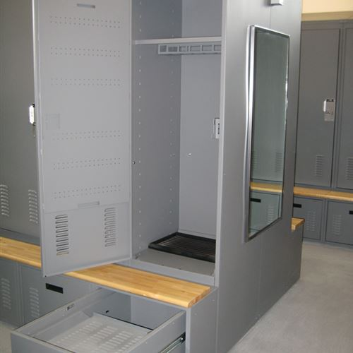 Gear Lockers at Carbondale Police Department