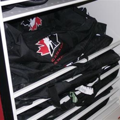 Hockey Equipment Storage For Hockey Canada On Mobile Shelving