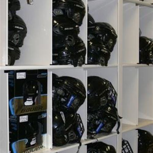 Helmet Storage for Hockey Canada in Cubbies