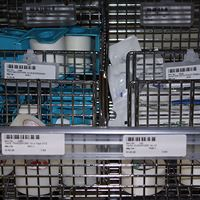 Wire Baskets Storage for Medical Supplies