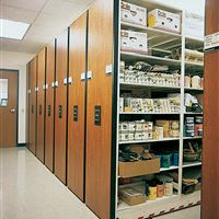 Mobile Storage with 4-Post Shelving - Art Supplies
