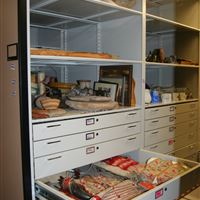 Mobile Storage with 4-Post Shelving & Drawers