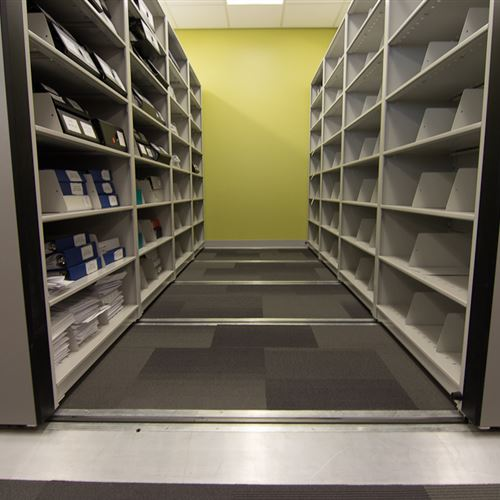 Mobile Shelving for York University Finance Department