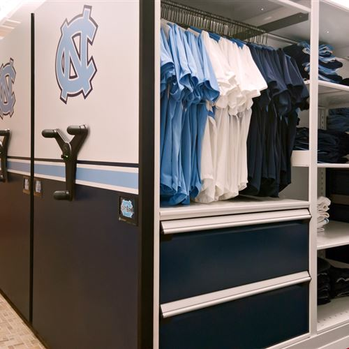 Softball athletic equipment Storage at University of North Carolina