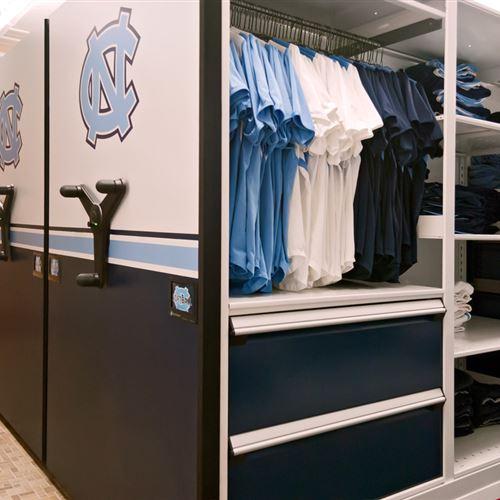 Softball athletic equipment Storage at University of North Carolina