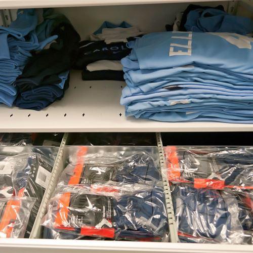 Athletic Equipment Storage at University of North Carolina