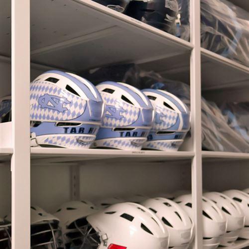 Lacrosse Helmet Storage at UNC