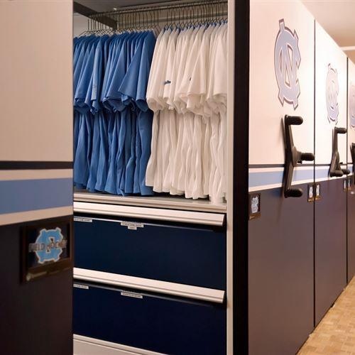 Athletic Gear Storage at University of North Carolina