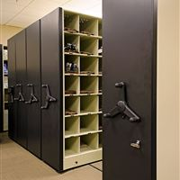 Baseball Storage on Mobile Shelving at University of Tennessee