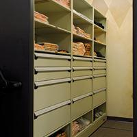 Baseball Equipment Storage Drawer System on Mobile Shelving