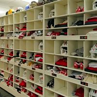 Player's Athletic Equipment Storage at University of Louisville