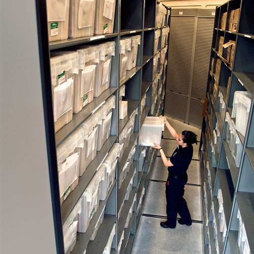 Long-Term Evidence Storage on Mobile Shelving at City of Sunrise Police Department