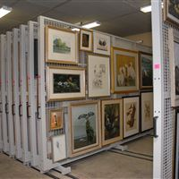 Moveable Arts Racks at Woodson Museum of Art
