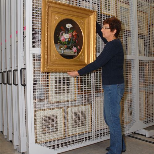 Mobile Art Racks at Woodson Museum of Art