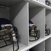 Mobile Shelving Helmet Storage