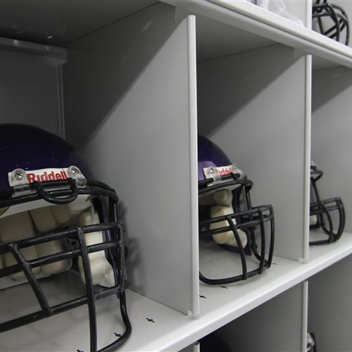 Mobile Shelving Helmet Storage
