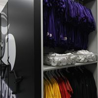 High Density Mobile Storage for Athletic Equipment