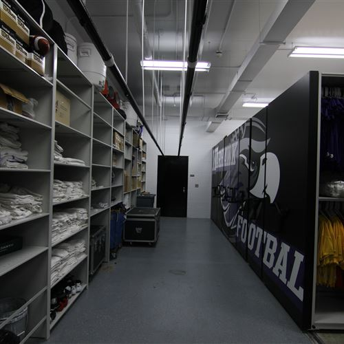 Football Equipment Storage Room at UW Whitewater