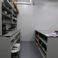 Work Area in Athletic Storage Room