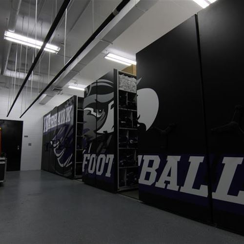 Warhawks Score with Spacesaver for Football Equipment Storage