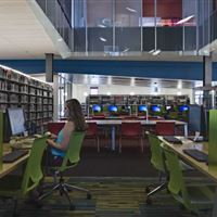 Computer Stations and Library Storage at Gateway College