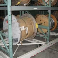 Cable Reels on ActivRAC Mobile Shelving at Puget Sound Naval Shipyard | Bremerton, WA