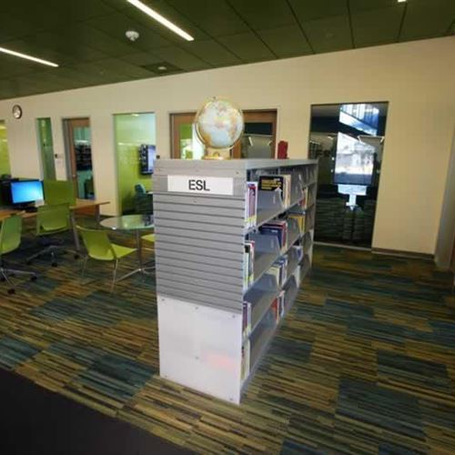 Spacesaver Cantilever Shelving Transforms Gateway Library