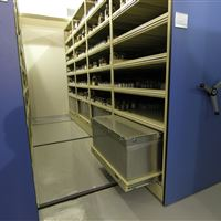 Refrigerated storage on mobile shelving