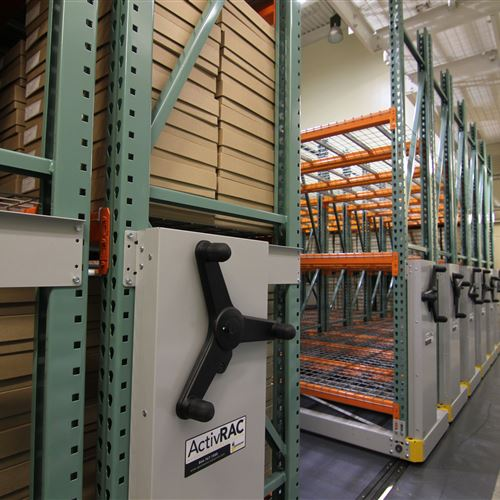 Mobilized Industrial Grade Racking at University of Washington