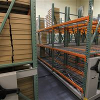 Mobile Warehouse Shelving for Box Storage