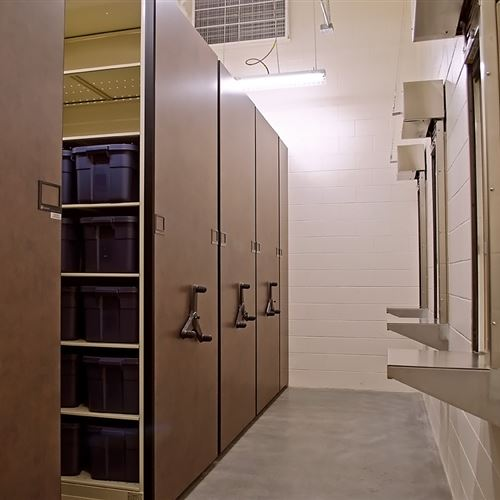 Mobile Shelving for Inmate Property Storage