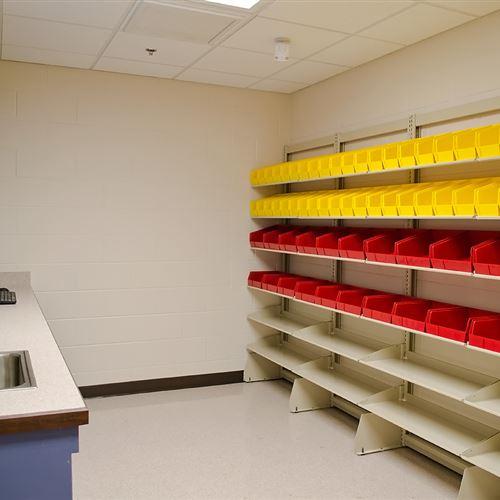 FrameWRX Bin Storage for Jail Pharmacy