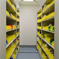 Bin Storage Shelving for Pharmacies