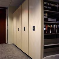 Compact Storage with Wood end panels for Legal Documents
