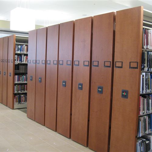 High Density Library Book Storage at Snow College