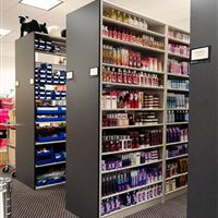 Metal Static Shelving for Bath and Body Works
