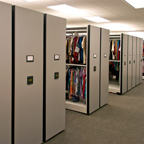 Electronic Powered Mobile Shelving for Cato Corporation