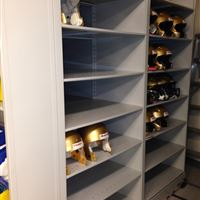 Helmet Storage for Winnipeg Blue Bomber Candian Football Team