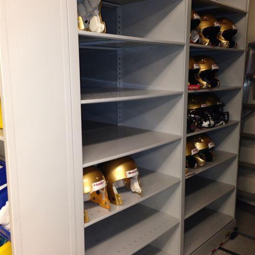 Helmet Storage for Winnipeg Blue Bomber Candian Football Team