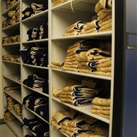 Uniform Shelving and Storage for Canadian Football League Team