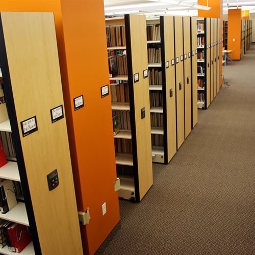 Powered High Density Mobile Library Shelving