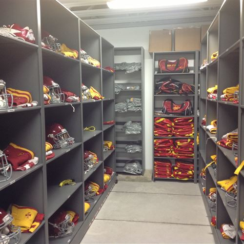 Helmet Storage at Iowa State University