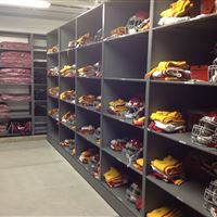 Football Uniform Storage on High Density Mobile Systems