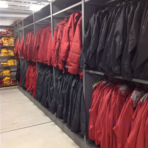 Sports storage solutions at Iowa State University