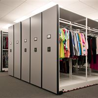 Garment Storage in 4-post Shelving Mobile Storage System