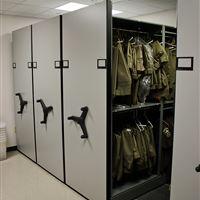 Mobile Shelving Uniform Storage at Cabarrus County Jail