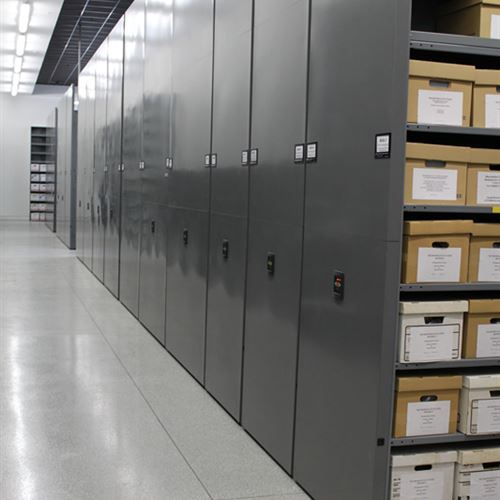 Powered Mobile Storage System for Museum Storage