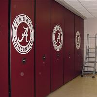 Football Equipment Storage for the Alambama Crimson Tide