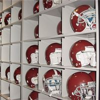 Helmet Storage on Mobile Shelving at the University of Alabama