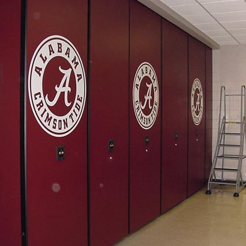 Crimson Tide Rolls with Movable Shelving For Their Athletic Equipment Storage